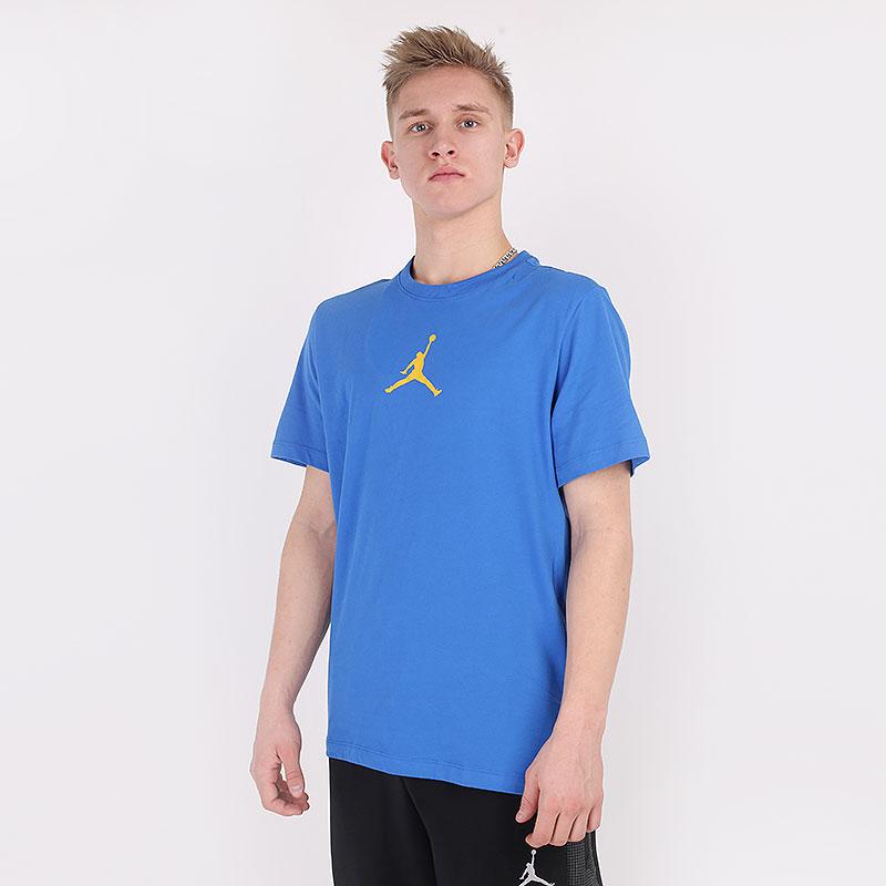 мужскую синюю  футболка jordan jumpman tee CW5190-403 - цена, описание, фото 1