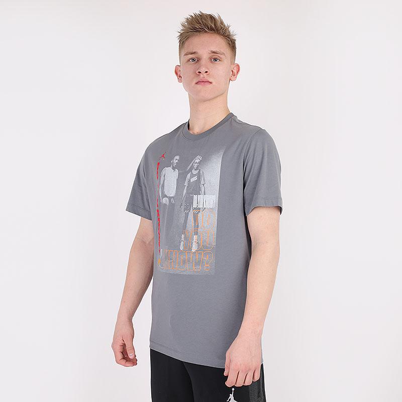 мужскую серую  футболка jordan aj3 graphic crew DD5253-084 - цена, описание, фото 1