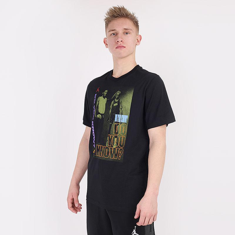 мужскую черную  футболка jordan aj3 graphic crew DD5253-010 - цена, описание, фото 1