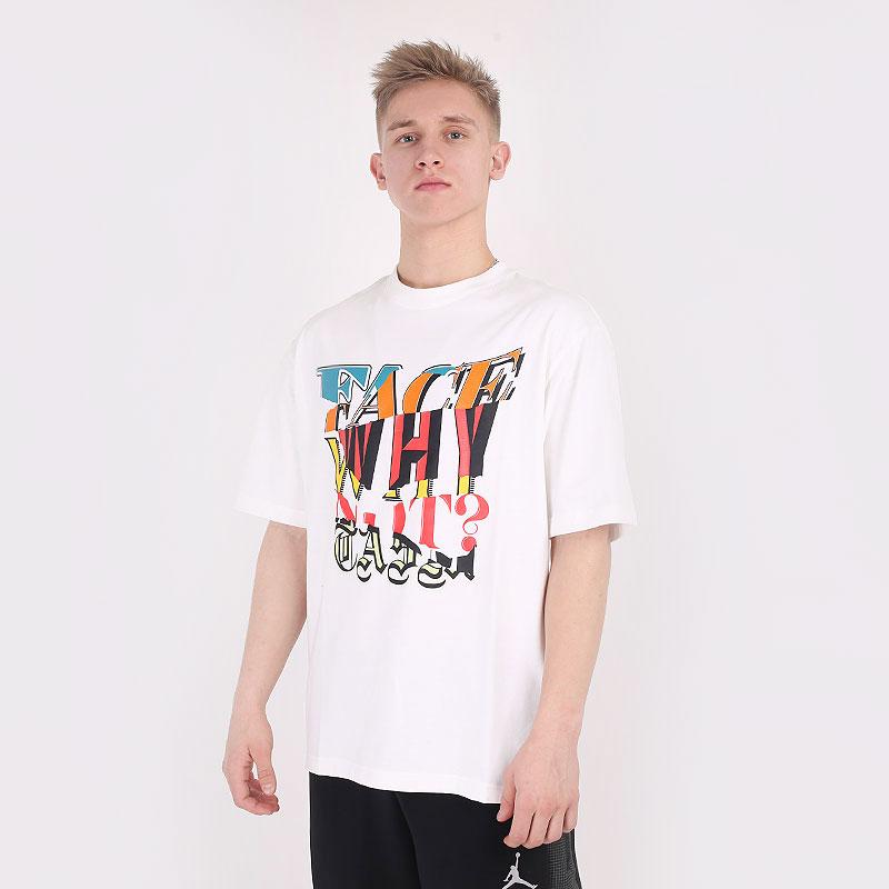 мужскую белую  футболка jordan why not ? x facetasm tee DC4701-100 - цена, описание, фото 1