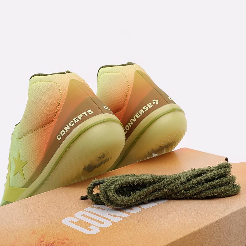мужские зелёные  кроссовки converse all star bb evo mid 170591 - цена, описание, фото 9