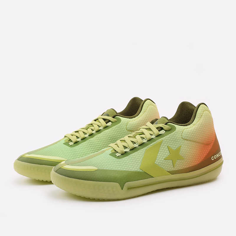 мужские зелёные  кроссовки converse all star bb evo mid 170591 - цена, описание, фото 4