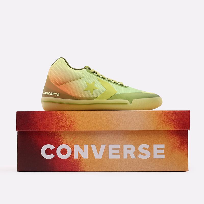 мужские зелёные  кроссовки converse all star bb evo mid 170591 - цена, описание, фото 5