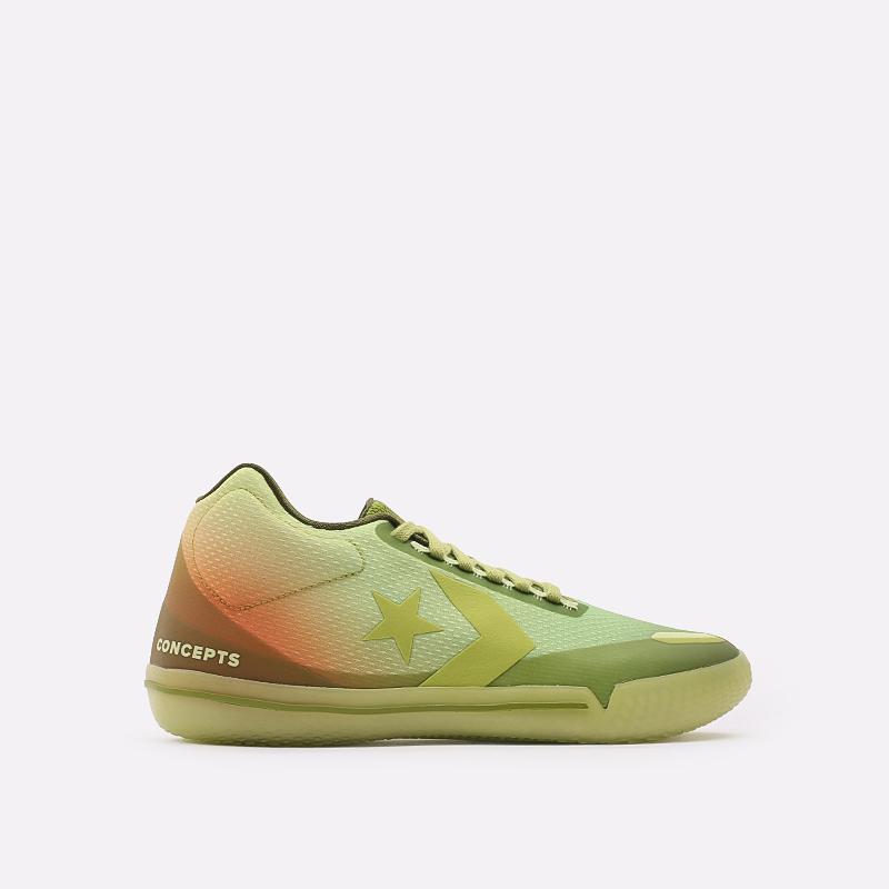 мужские зелёные  кроссовки converse all star bb evo mid 170591 - цена, описание, фото 1