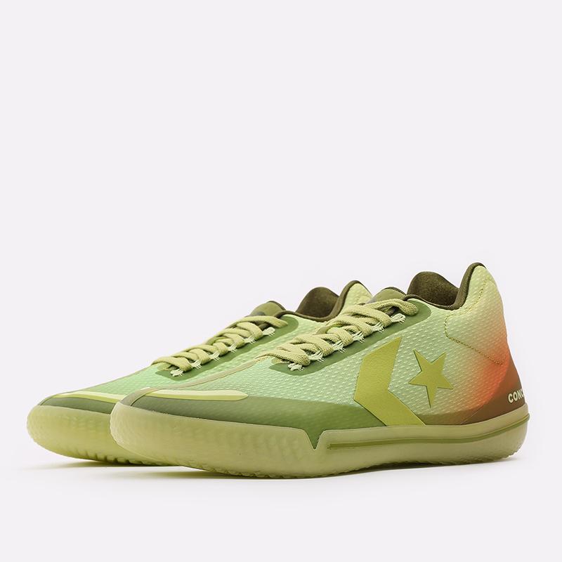 мужские зелёные  кроссовки converse all star bb evo mid 170591 - цена, описание, фото 2
