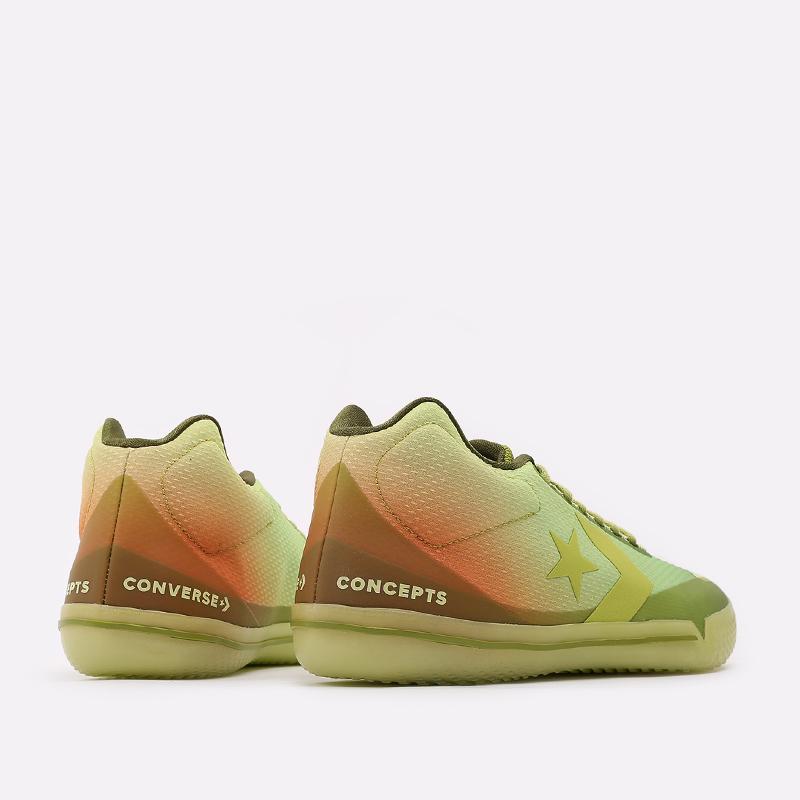 мужские зелёные  кроссовки converse all star bb evo mid 170591 - цена, описание, фото 3
