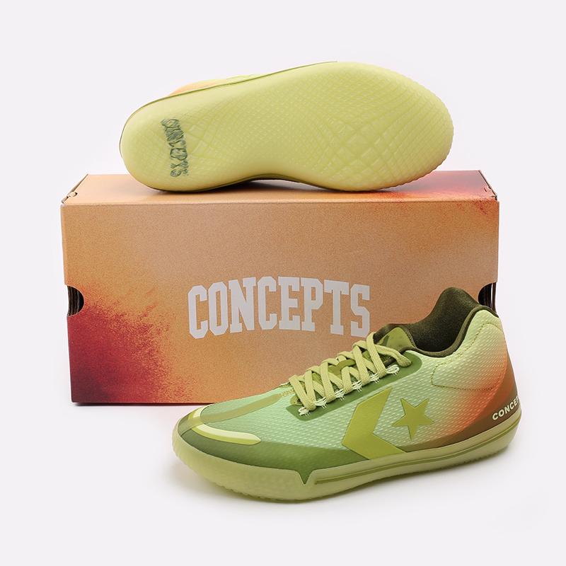 мужские зелёные  кроссовки converse all star bb evo mid 170591 - цена, описание, фото 7