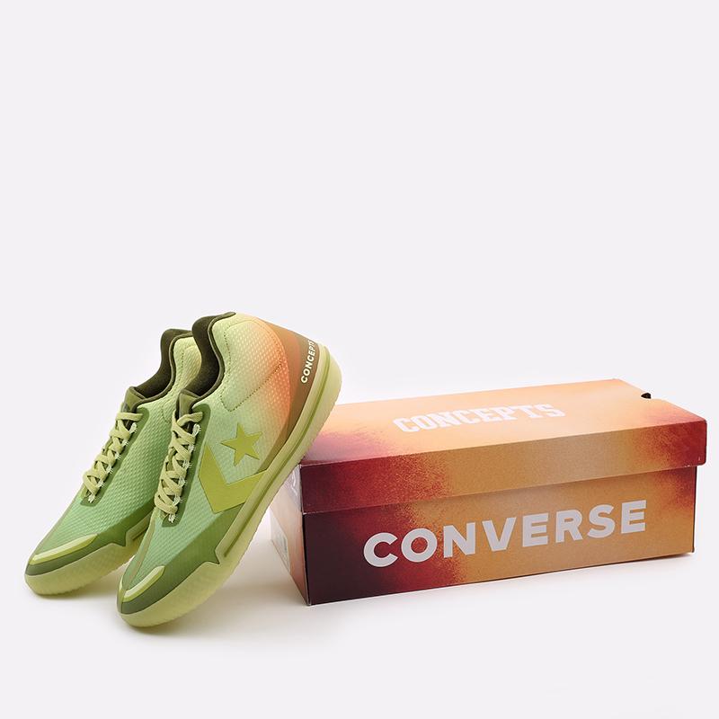 мужские зелёные  кроссовки converse all star bb evo mid 170591 - цена, описание, фото 6