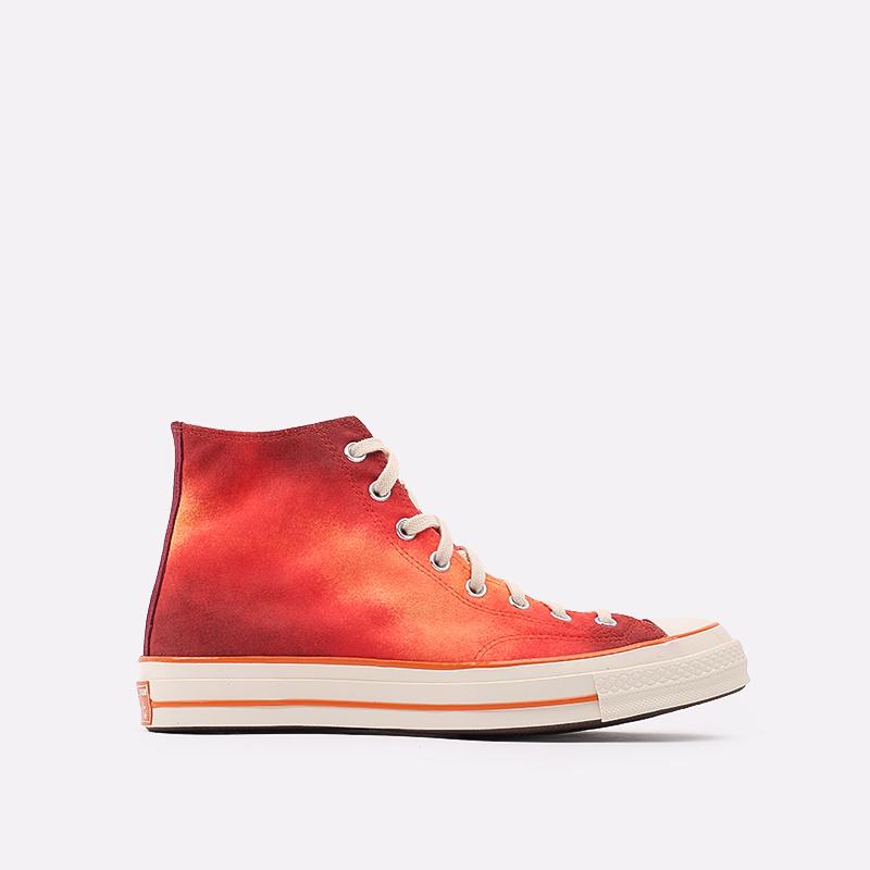 мужские красные  кеды converse chuck 70 hi orange 170590 - цена, описание, фото 1