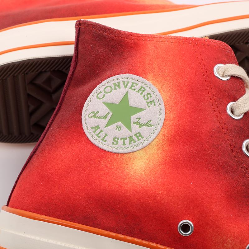 мужские красные  кеды converse chuck 70 hi orange 170590 - цена, описание, фото 9