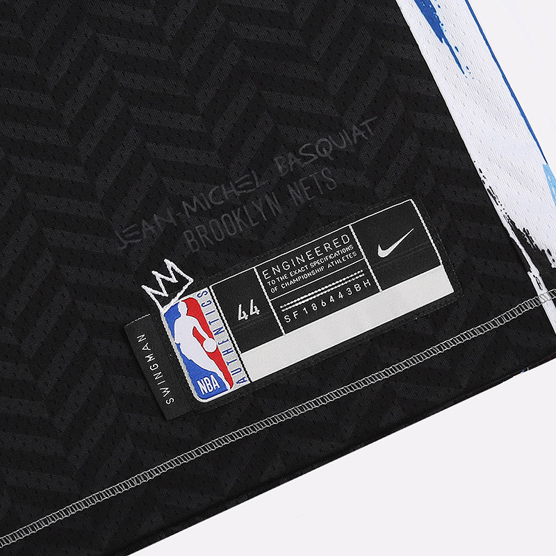 мужскую черную  майку nike nba swingman brooklyn nets city edition CN1713-010 - цена, описание, фото 2