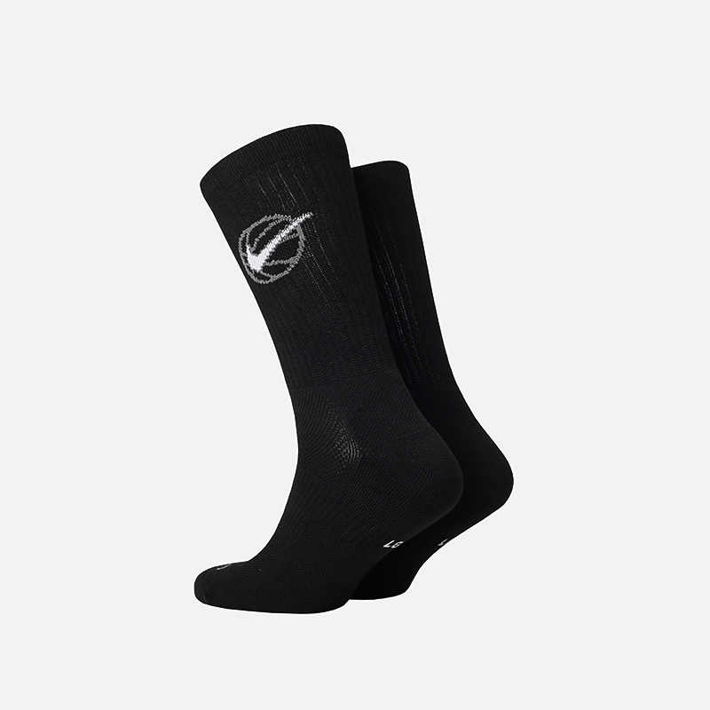 мужские чёрные  носки nike everyday crew 3 pairs DA2123-010 - цена, описание, фото 2