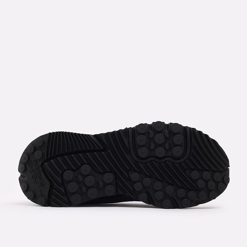 мужские чёрные, бежевые  кроссовки adidas nite jogger winterized FZ3665 - цена, описание, фото 3
