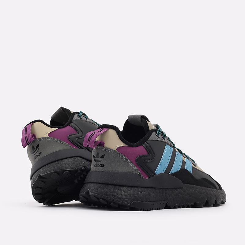 мужские чёрные, бежевые  кроссовки adidas nite jogger winterized FZ3665 - цена, описание, фото 4