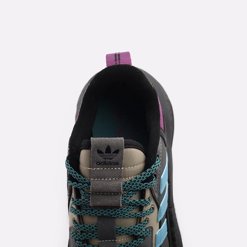 мужские чёрные, бежевые  кроссовки adidas nite jogger winterized FZ3665 - цена, описание, фото 6