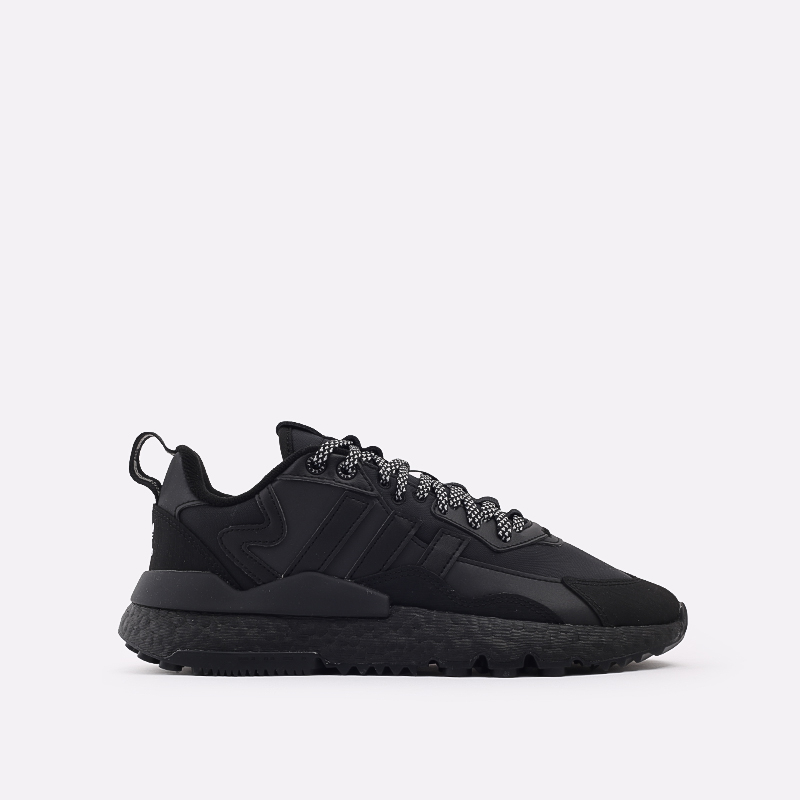мужские чёрные  кроссовки adidas nite jogger winterized FZ3661 - цена, описание, фото 1