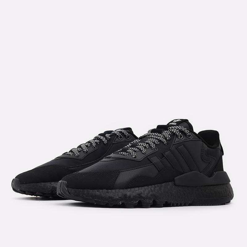 мужские чёрные  кроссовки adidas nite jogger winterized FZ3661 - цена, описание, фото 2