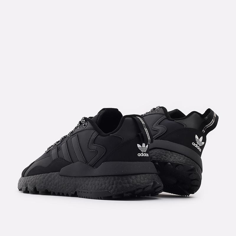 мужские чёрные  кроссовки adidas nite jogger winterized FZ3661 - цена, описание, фото 4