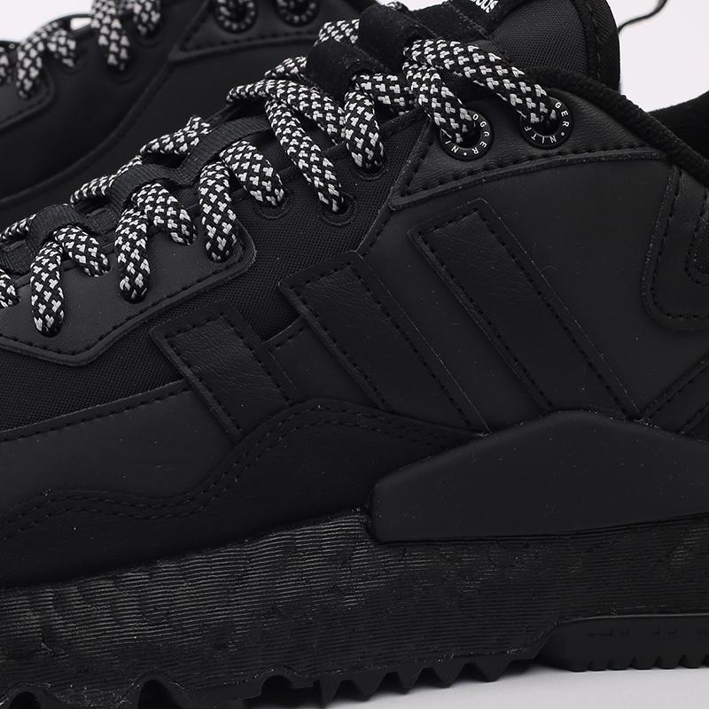 мужские чёрные  кроссовки adidas nite jogger winterized FZ3661 - цена, описание, фото 6