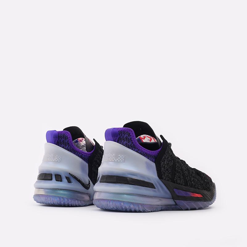 женские чёрные  кроссовки nike lebron xviii nrg (gs) CT4677-001 - цена, описание, фото 4