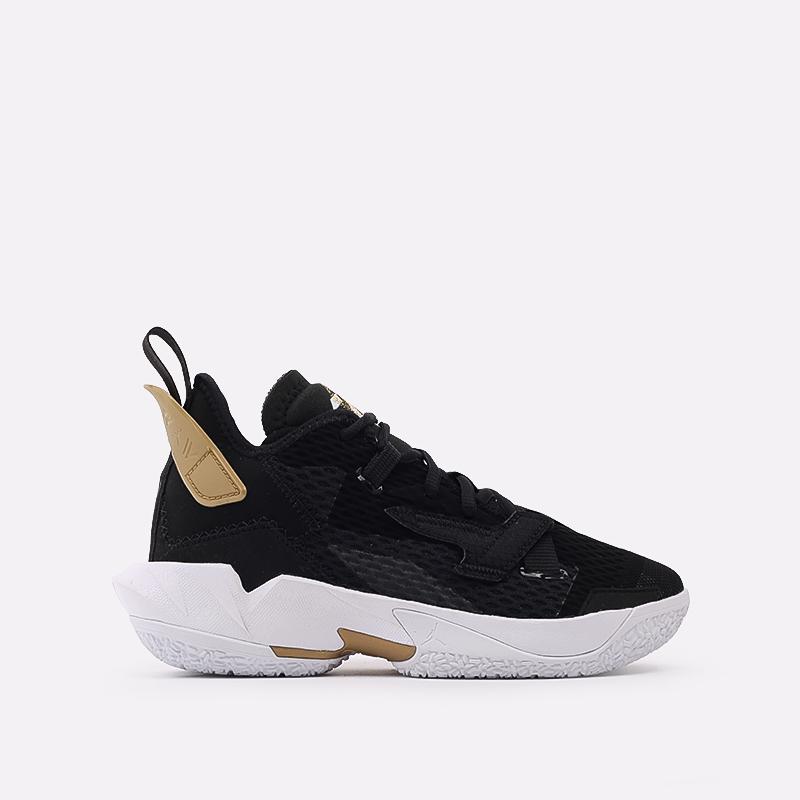 женские чёрные  кроссовки jordan why not zero.4 (gs) CQ9430-001 - цена, описание, фото 1