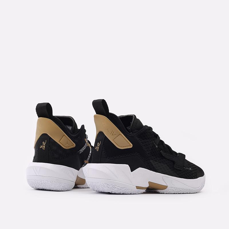 женские чёрные  кроссовки jordan why not zero.4 (gs) CQ9430-001 - цена, описание, фото 3