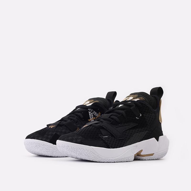 женские чёрные  кроссовки jordan why not zero.4 (gs) CQ9430-001 - цена, описание, фото 2