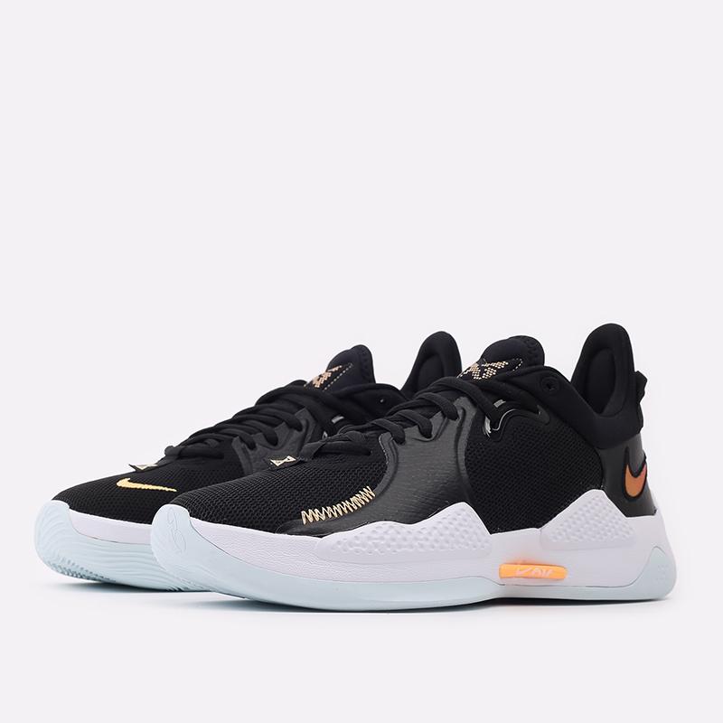 мужские чёрные  кроссовки nike pg 5 CW3143-001 - цена, описание, фото 2