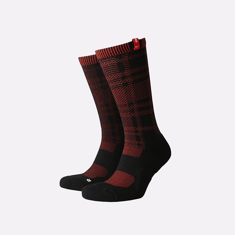 мужские чёрные, красные  носки nike elite CU5860-010 - цена, описание, фото 1