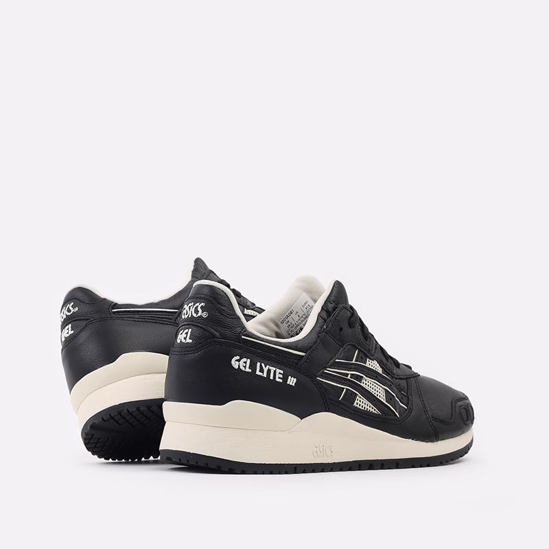 мужские чёрные  кроссовки asics gel-lyte iii og 1201A081-001 - цена, описание, фото 3
