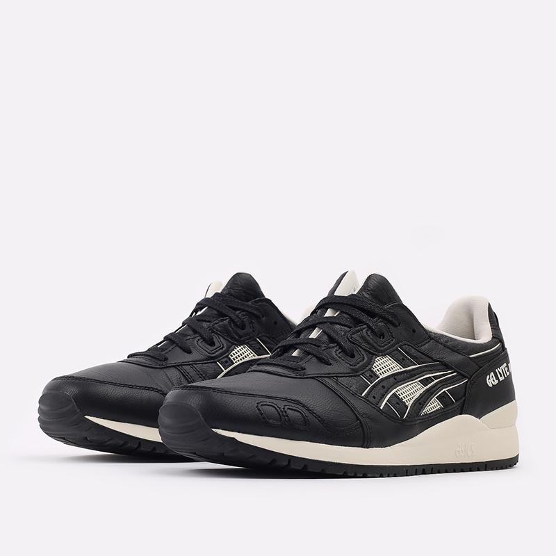 мужские чёрные  кроссовки asics gel-lyte iii og 1201A081-001 - цена, описание, фото 2