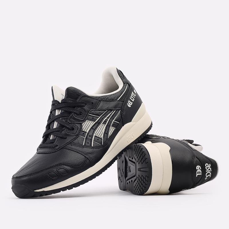 мужские чёрные  кроссовки asics gel-lyte iii og 1201A081-001 - цена, описание, фото 5
