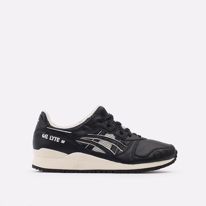 мужские чёрные  кроссовки asics gel-lyte iii og 1201A081-001 - цена, описание, фото 1