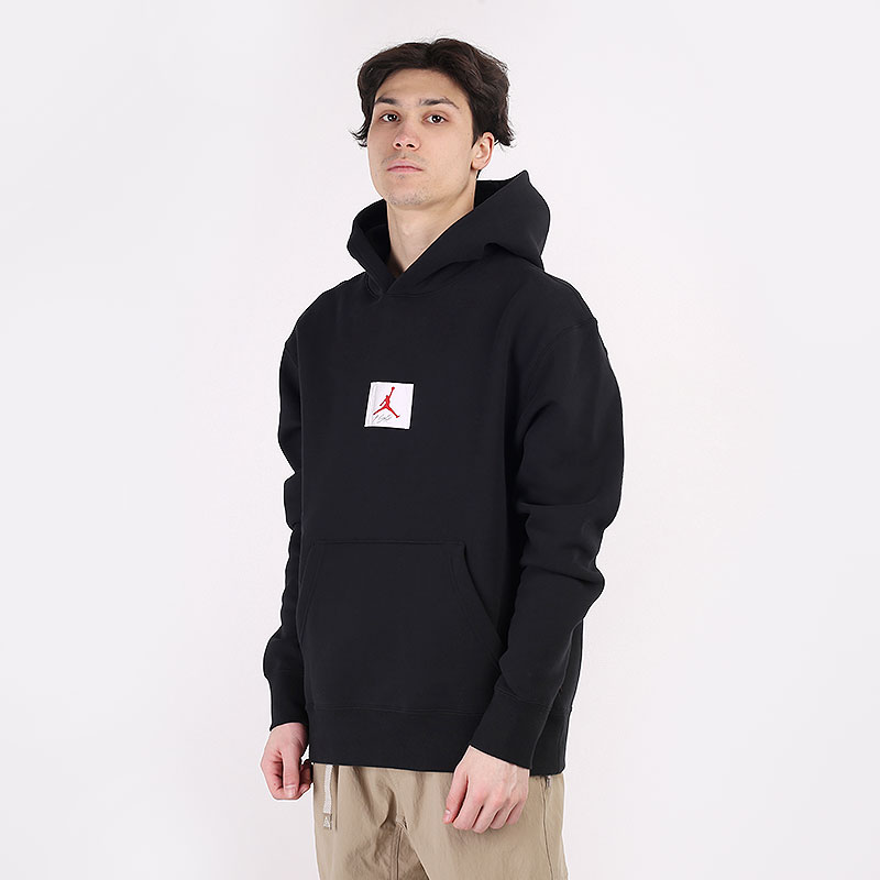 мужскую черную  толстовка jordan flight graphic pullover hoodie CZ8260-010 - цена, описание, фото 1