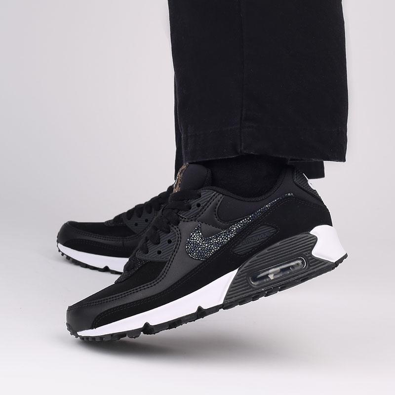 женские чёрные  кроссовки nike wmns air max 90 se CV8824-001 - цена, описание, фото 8