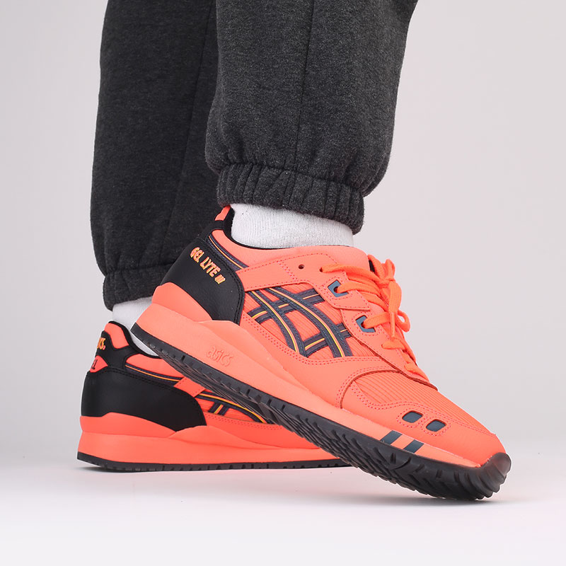 мужские оранжевые  кроссовки asics gel-lyte iii og 1201A052-700 - цена, описание, фото 8