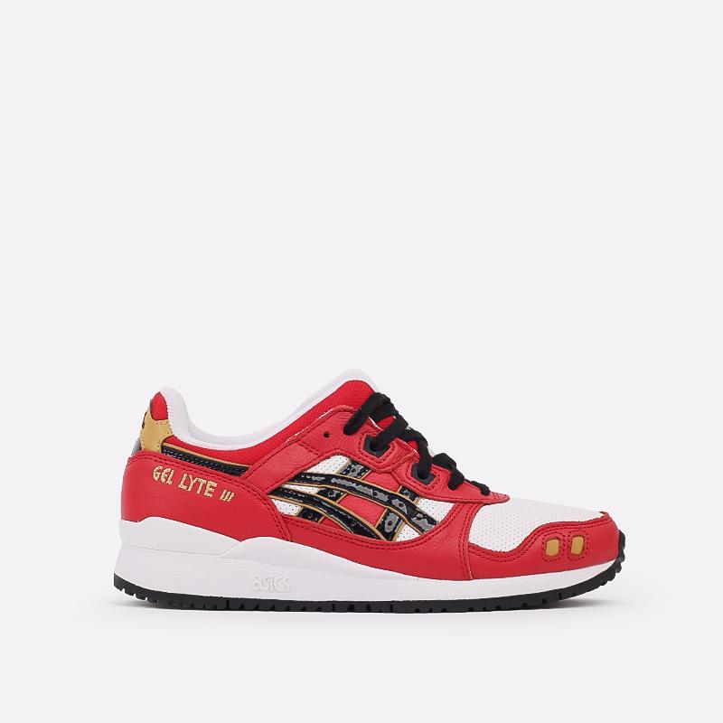 мужские красные  кроссовки asics gel-lyte iii og 1201A180-600 - цена, описание, фото 1