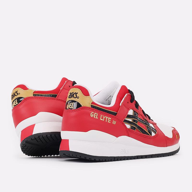 мужские красные  кроссовки asics gel-lyte iii og 1201A180-600 - цена, описание, фото 3