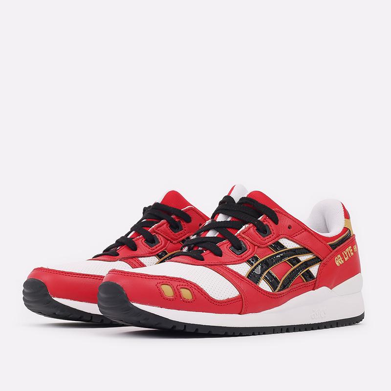 мужские красные  кроссовки asics gel-lyte iii og 1201A180-600 - цена, описание, фото 2