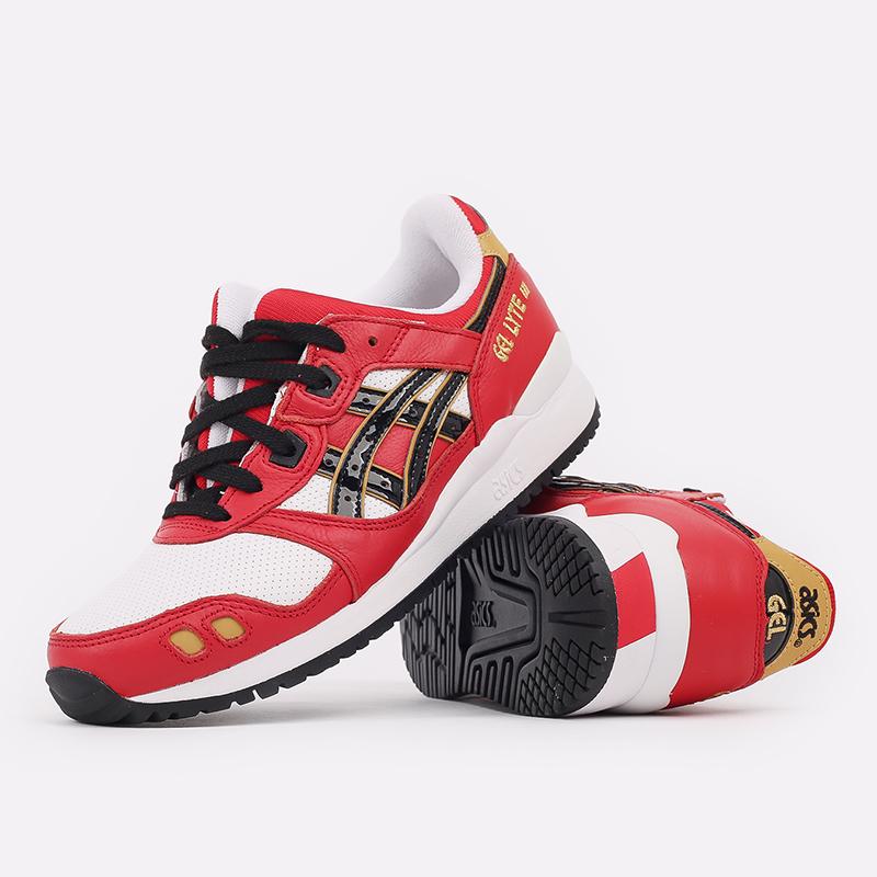 мужские красные  кроссовки asics gel-lyte iii og 1201A180-600 - цена, описание, фото 5