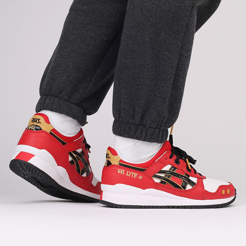 мужские красные  кроссовки asics gel-lyte iii og 1201A180-600 - цена, описание, фото 9