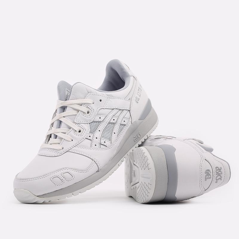 мужские белые  кроссовки asics gel-lyte iii og 1201A081-100 - цена, описание, фото 5