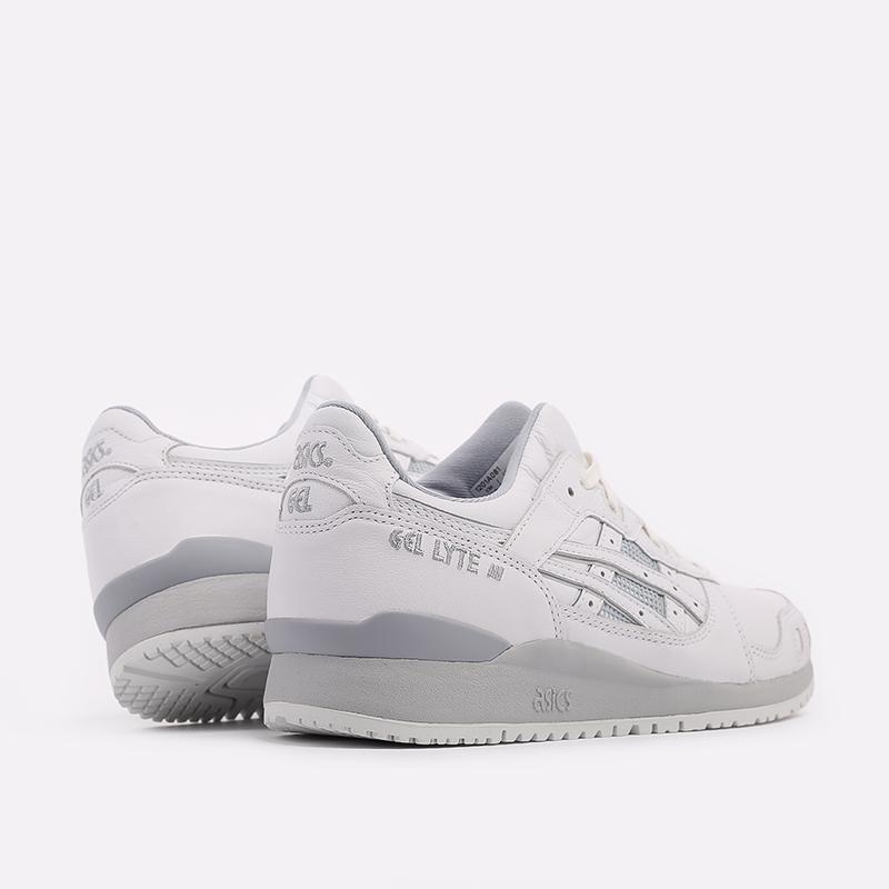 мужские белые  кроссовки asics gel-lyte iii og 1201A081-100 - цена, описание, фото 4