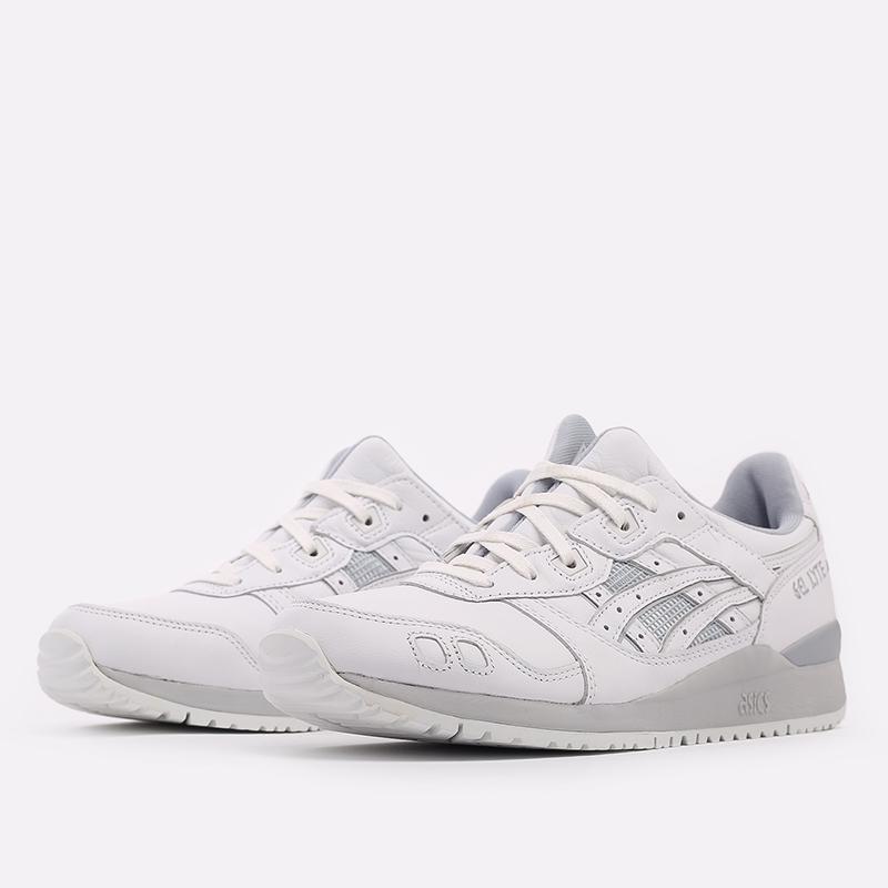мужские белые  кроссовки asics gel-lyte iii og 1201A081-100 - цена, описание, фото 2