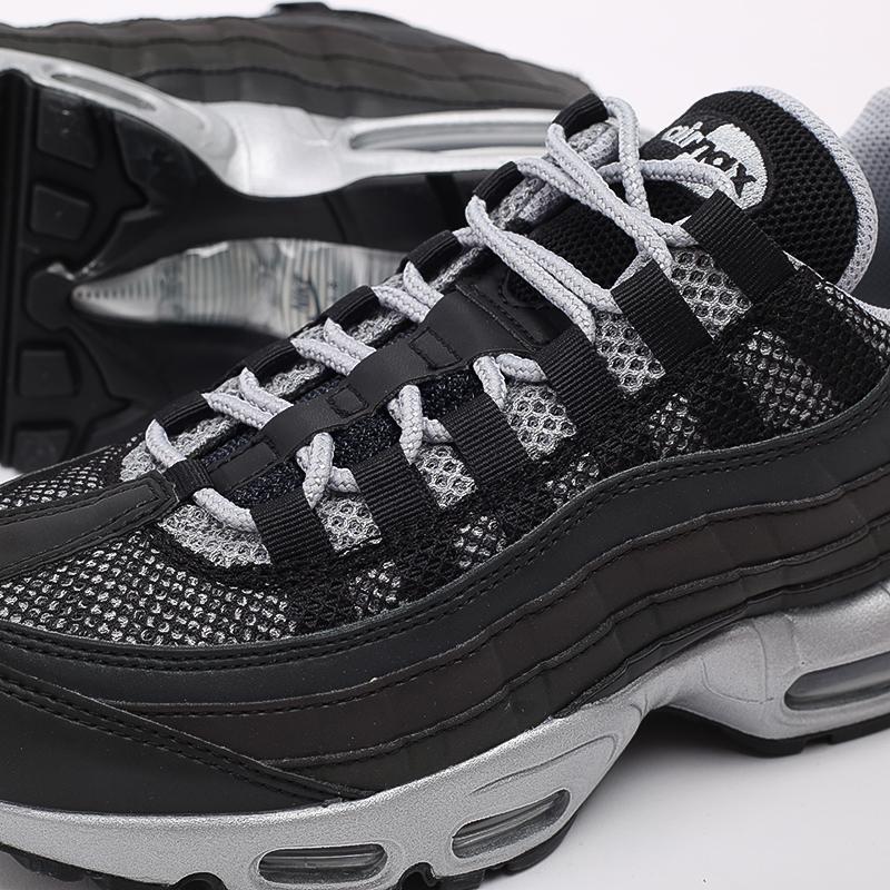 мужские чёрные  кроссовки nike air max 95 prm DH8075-001 - цена, описание, фото 7