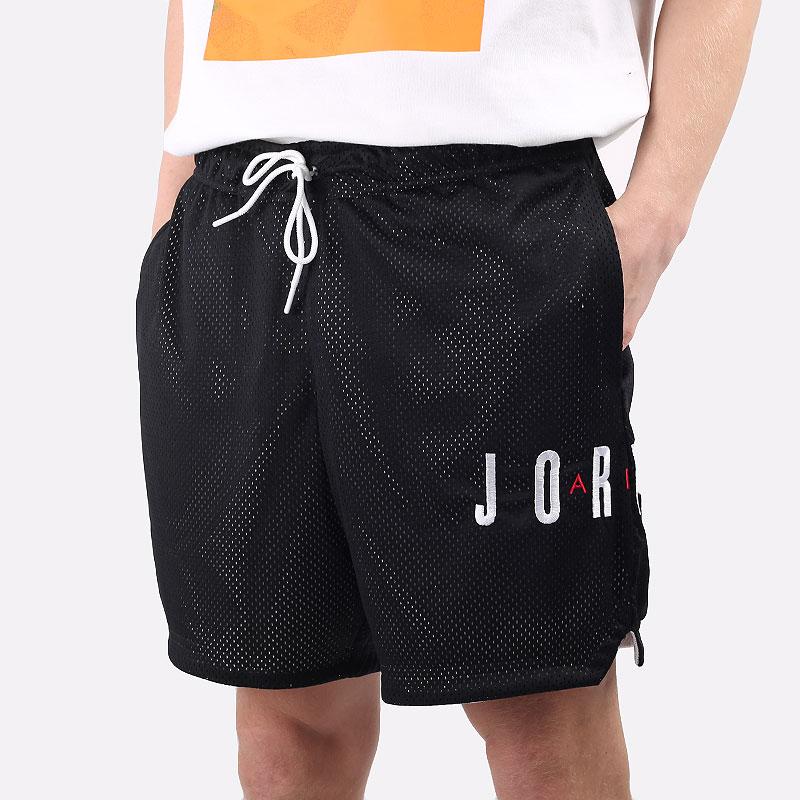 мужские черные  шорты  jordan jumpman air shorts CV3098-010 - цена, описание, фото 1