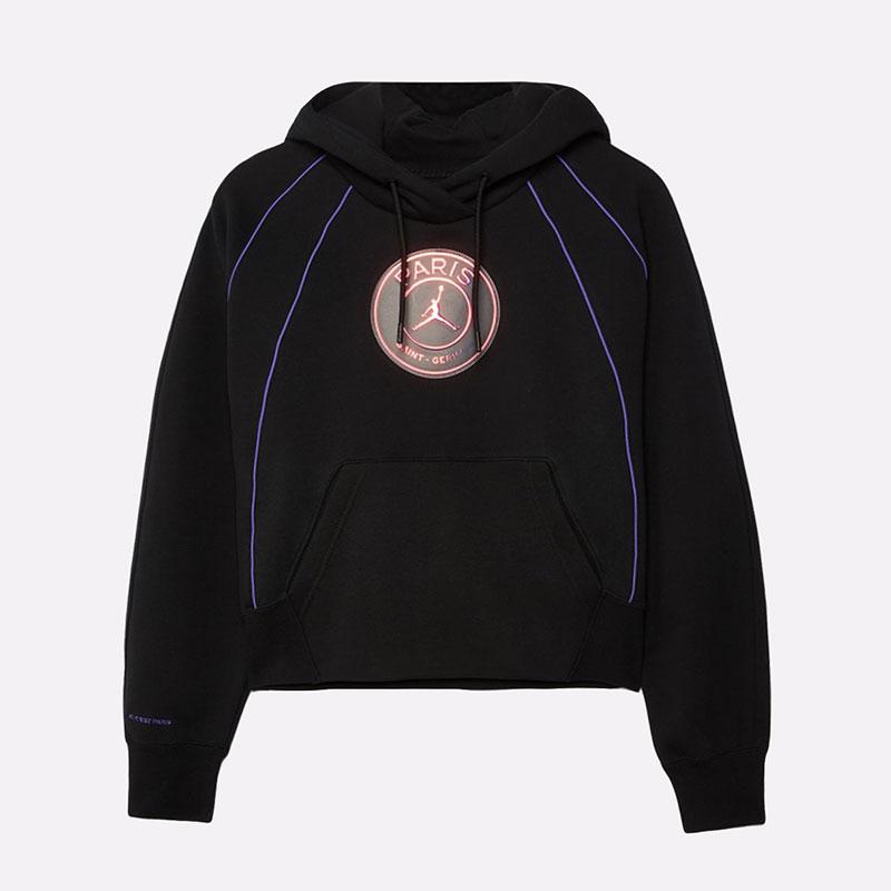 женскую черную  толстовка jordan paris saint-germain women's pullover hoodie CZ7497-010 - цена, описание, фото 1