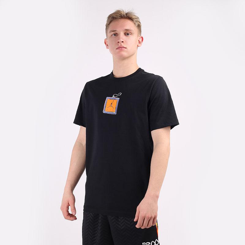 мужскую черную  футболка jordan keychain crew tee CV5157-010 - цена, описание, фото 1