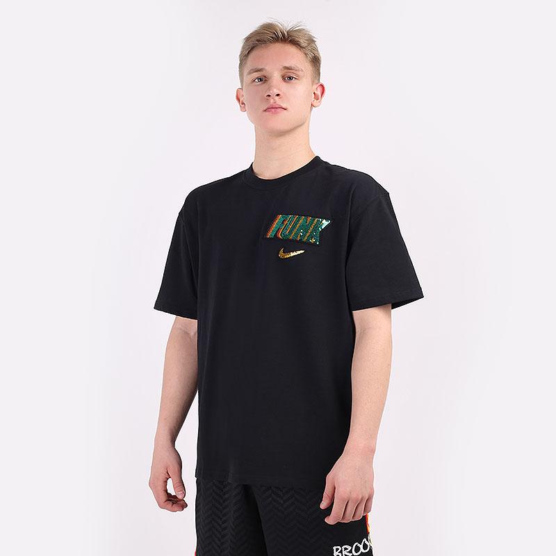 мужскую черную  футболка nike rayguns basketball t-shirt DB5964-010 - цена, описание, фото 1