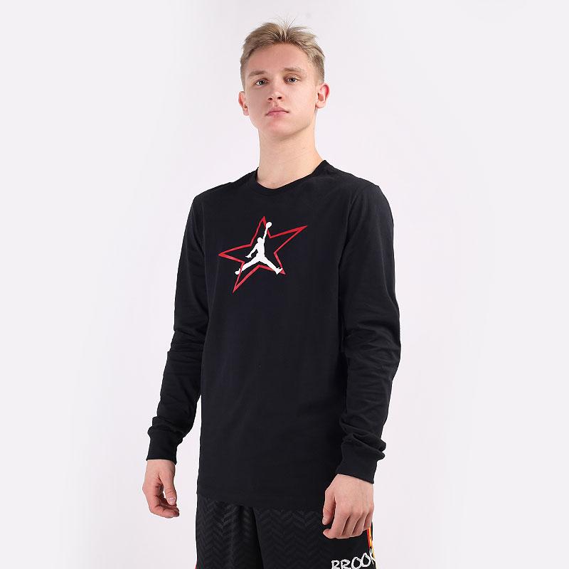 мужской черный  лонгслив jordan aj6 graphic long-sleeve DD5231-010 - цена, описание, фото 1